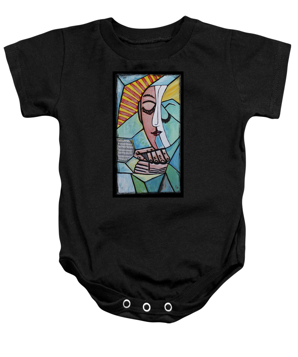 Sunshine Baby Onesie featuring the painting The Gift by Kip Krause