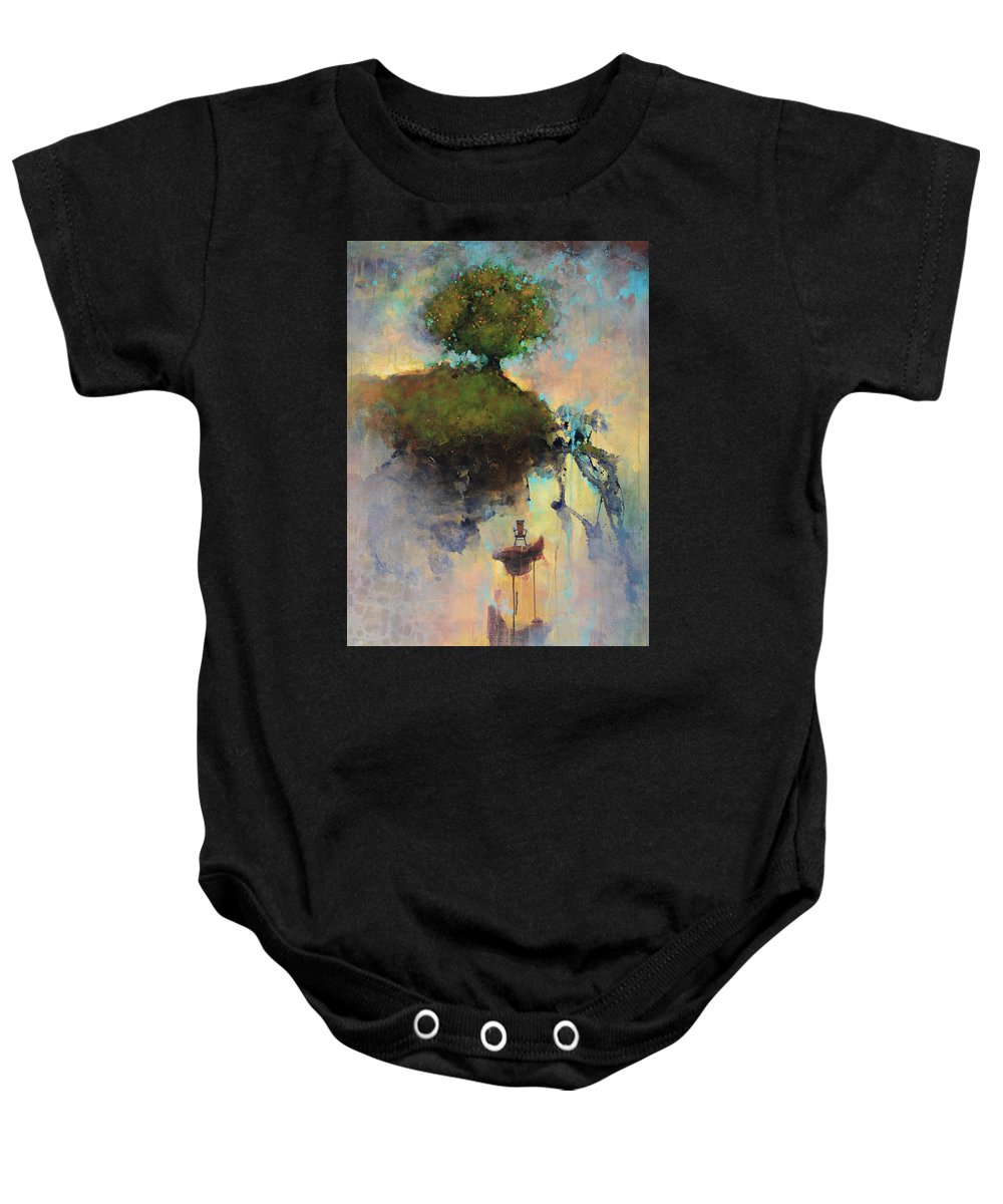 Joshua Smith Baby Onesie featuring the painting The Hiding Place by Joshua Smith