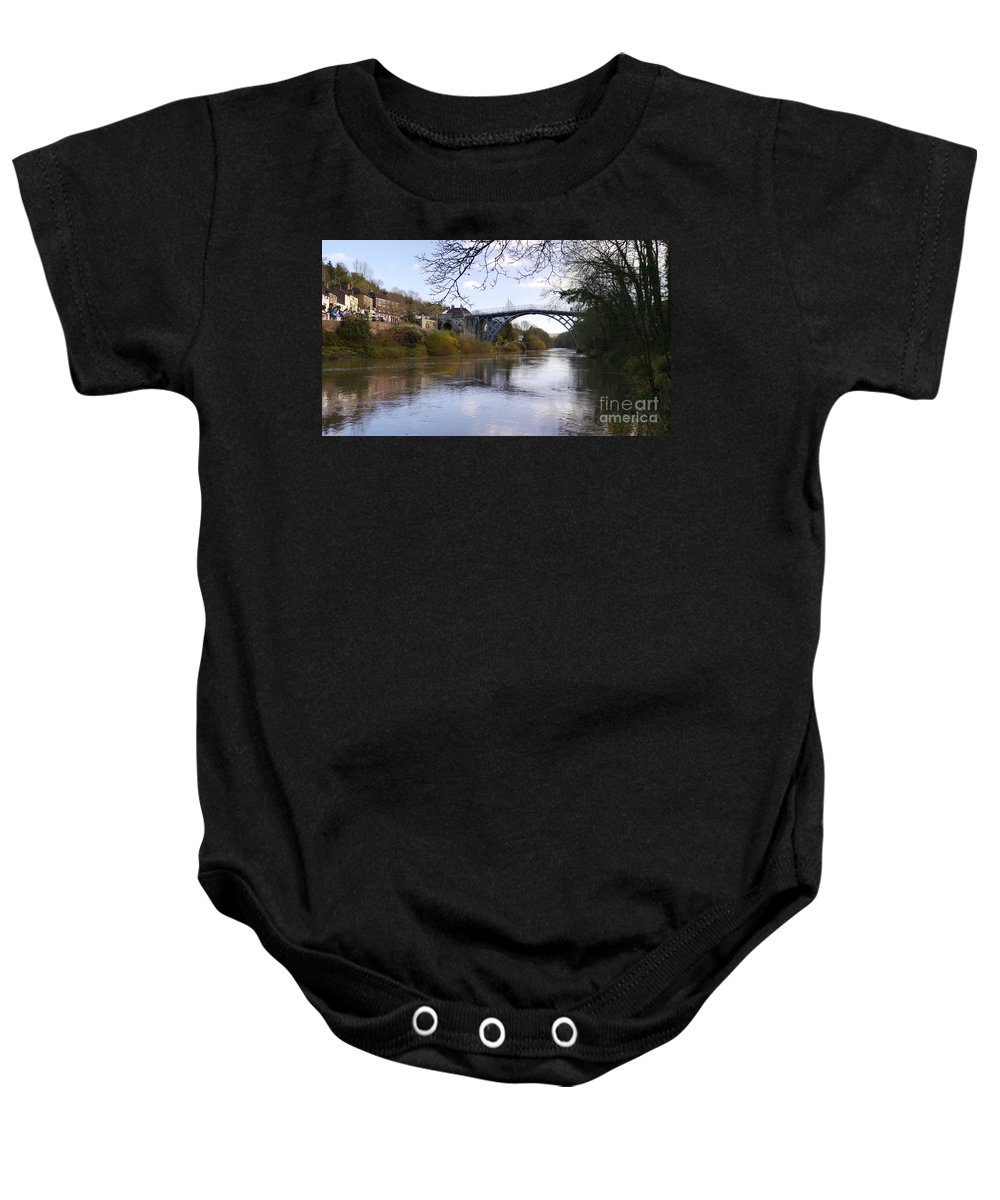 Ironbridge Baby Onesie featuring the photograph The Iron Bridge 2 by John Chatterley