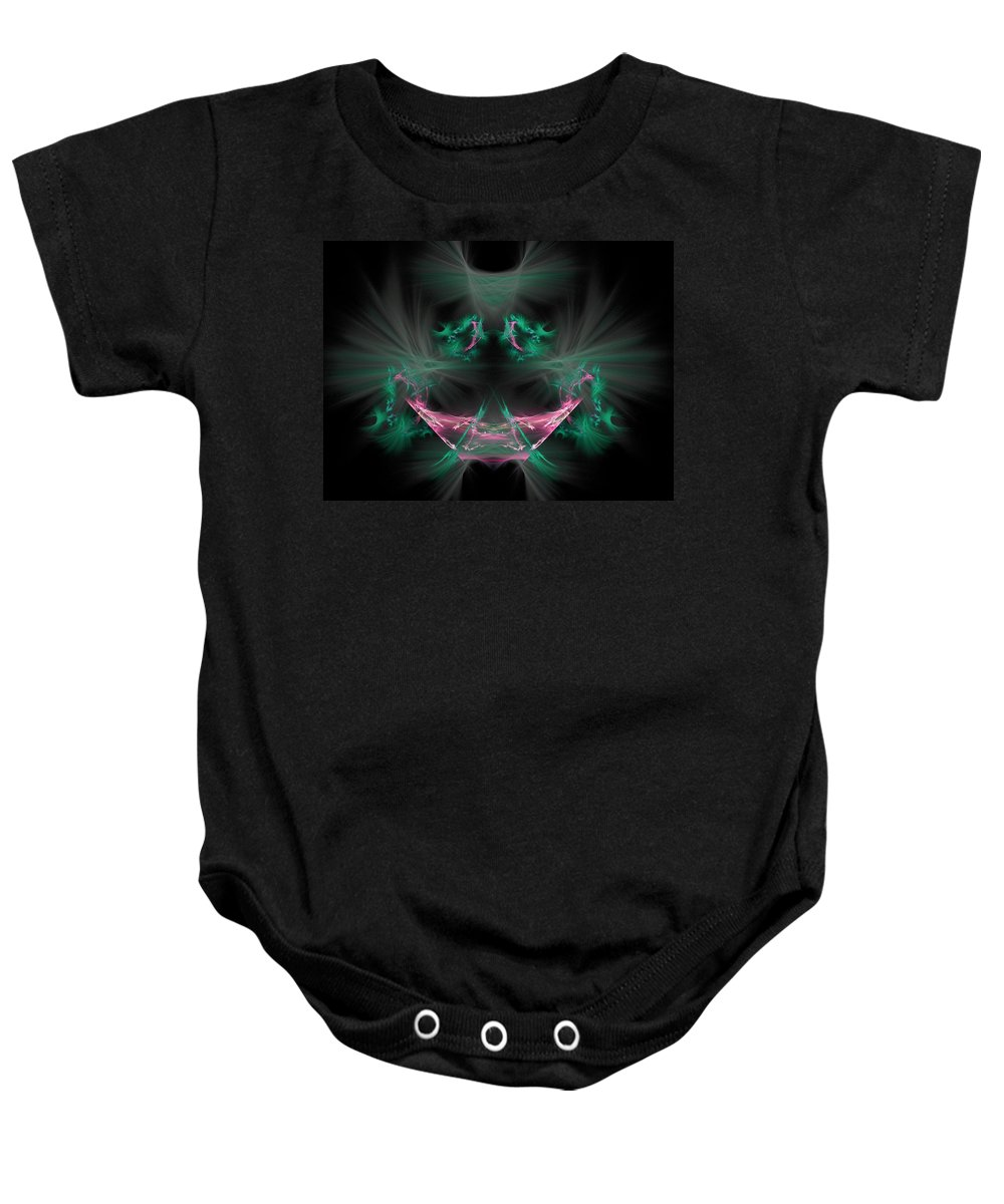 Fractal Baby Onesie featuring the painting The Joker by Bruce Nutting