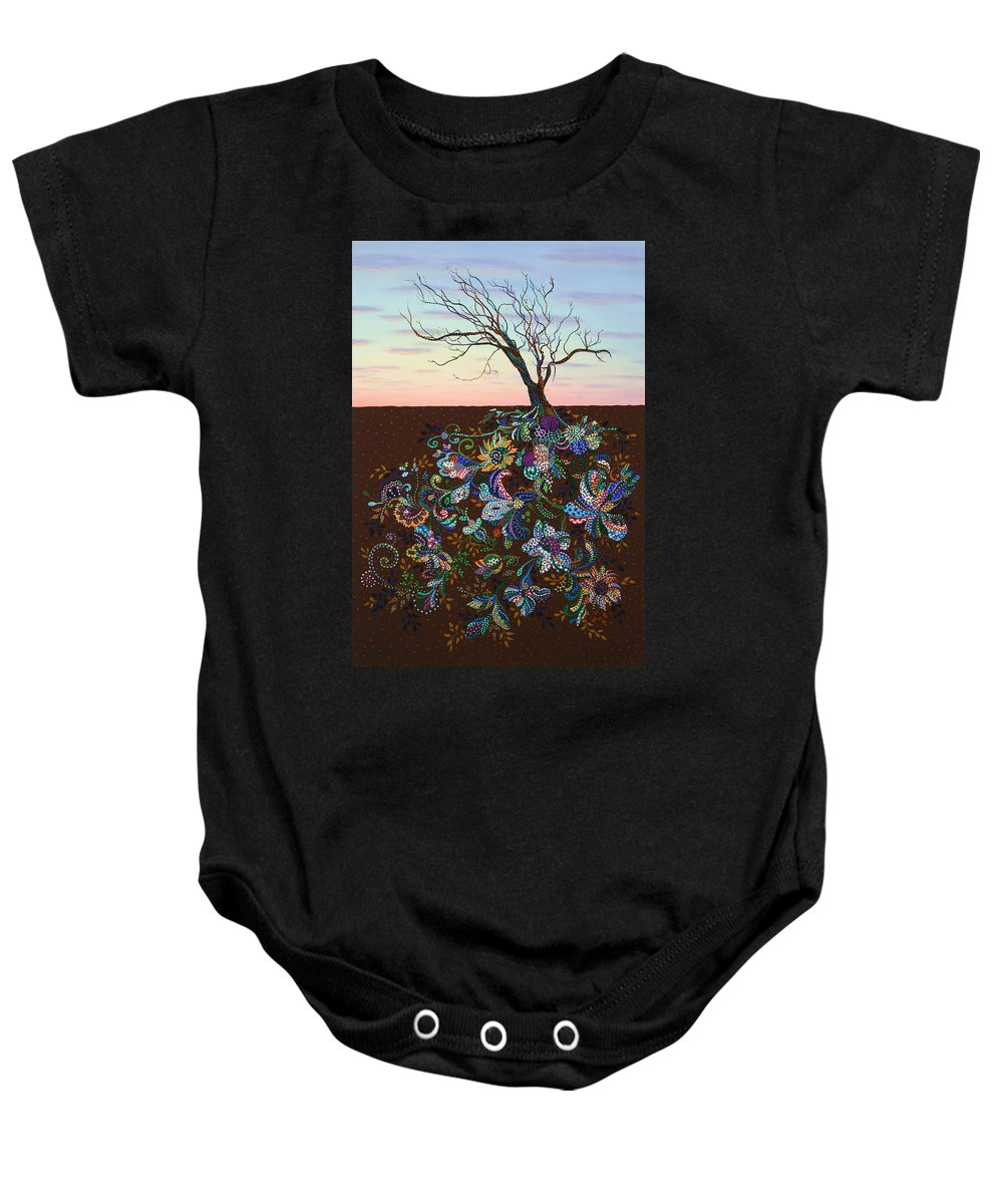 Tree Baby Onesie featuring the painting The Journey by James W Johnson