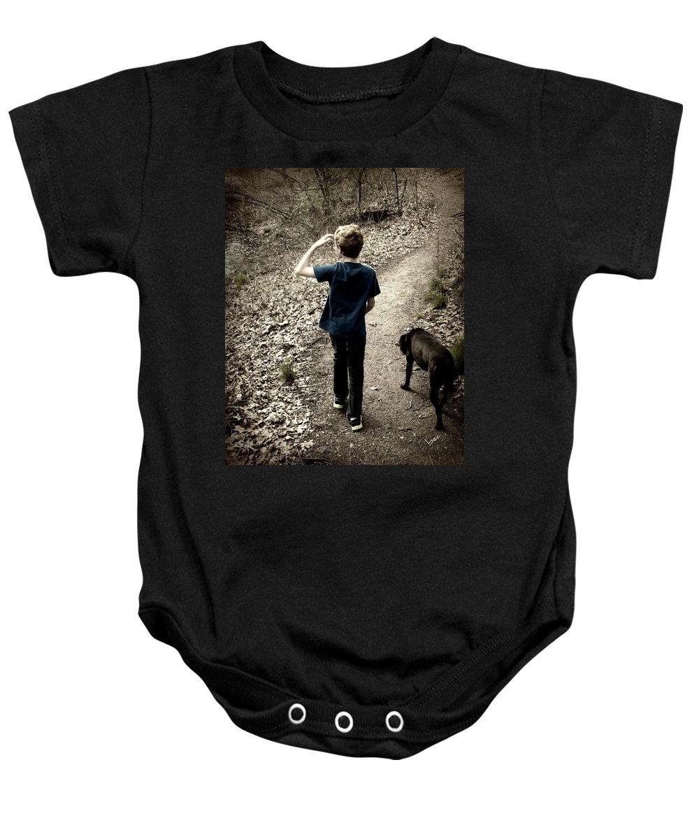 Boy Baby Onesie featuring the photograph The Journey Together by Bruce Carpenter