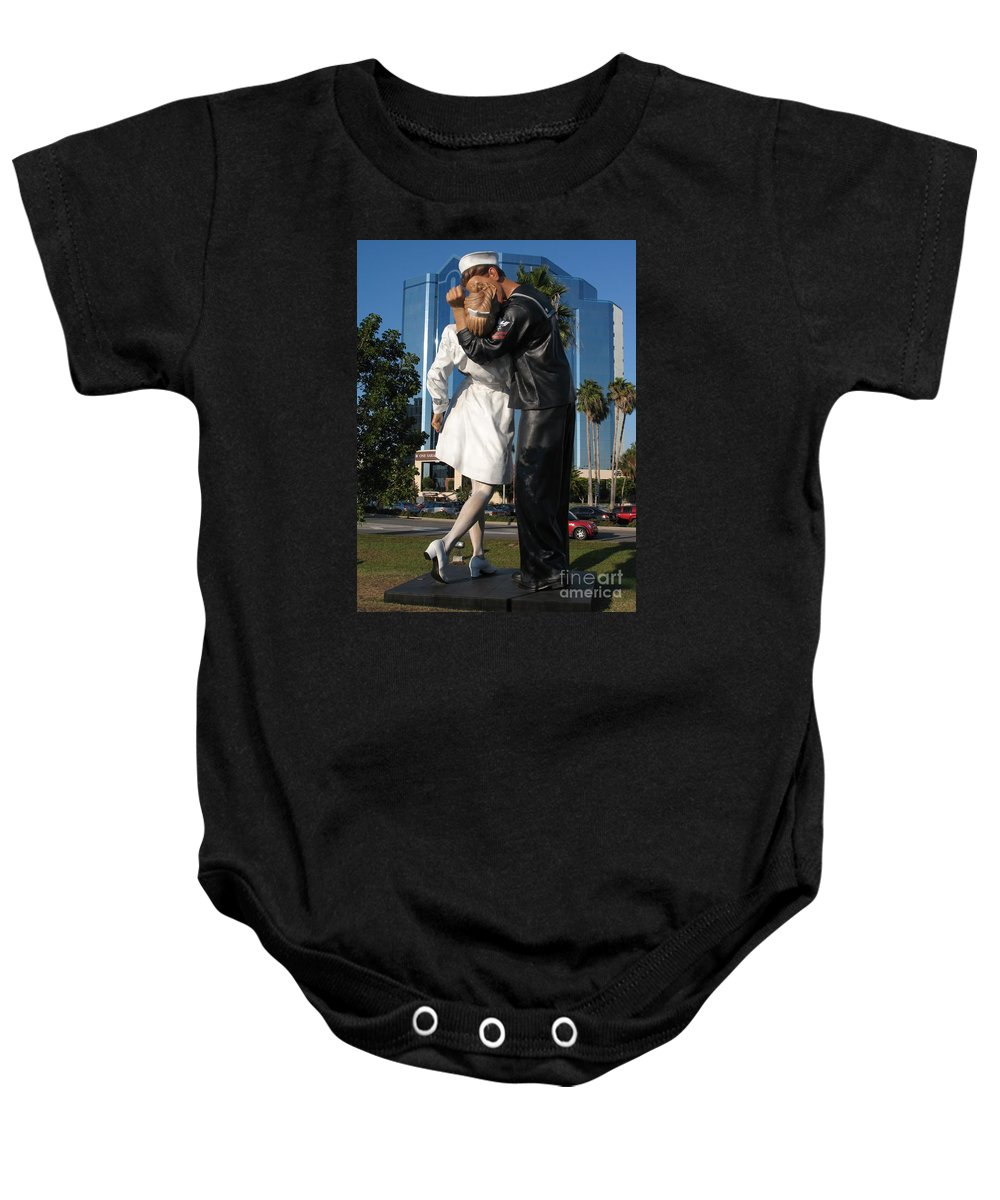 Sailor Baby Onesie featuring the photograph The Kiss - Sailor And Nurse - Sarasota by Christiane Schulze Art And Photography