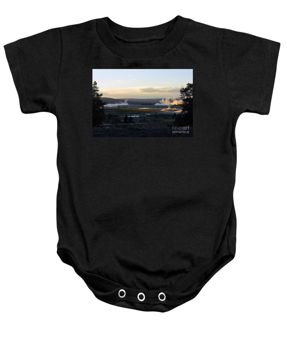 Geysers Baby Onesie featuring the photograph The Land Of Geysers. Yellowstone by Ausra Huntington nee Paulauskaite