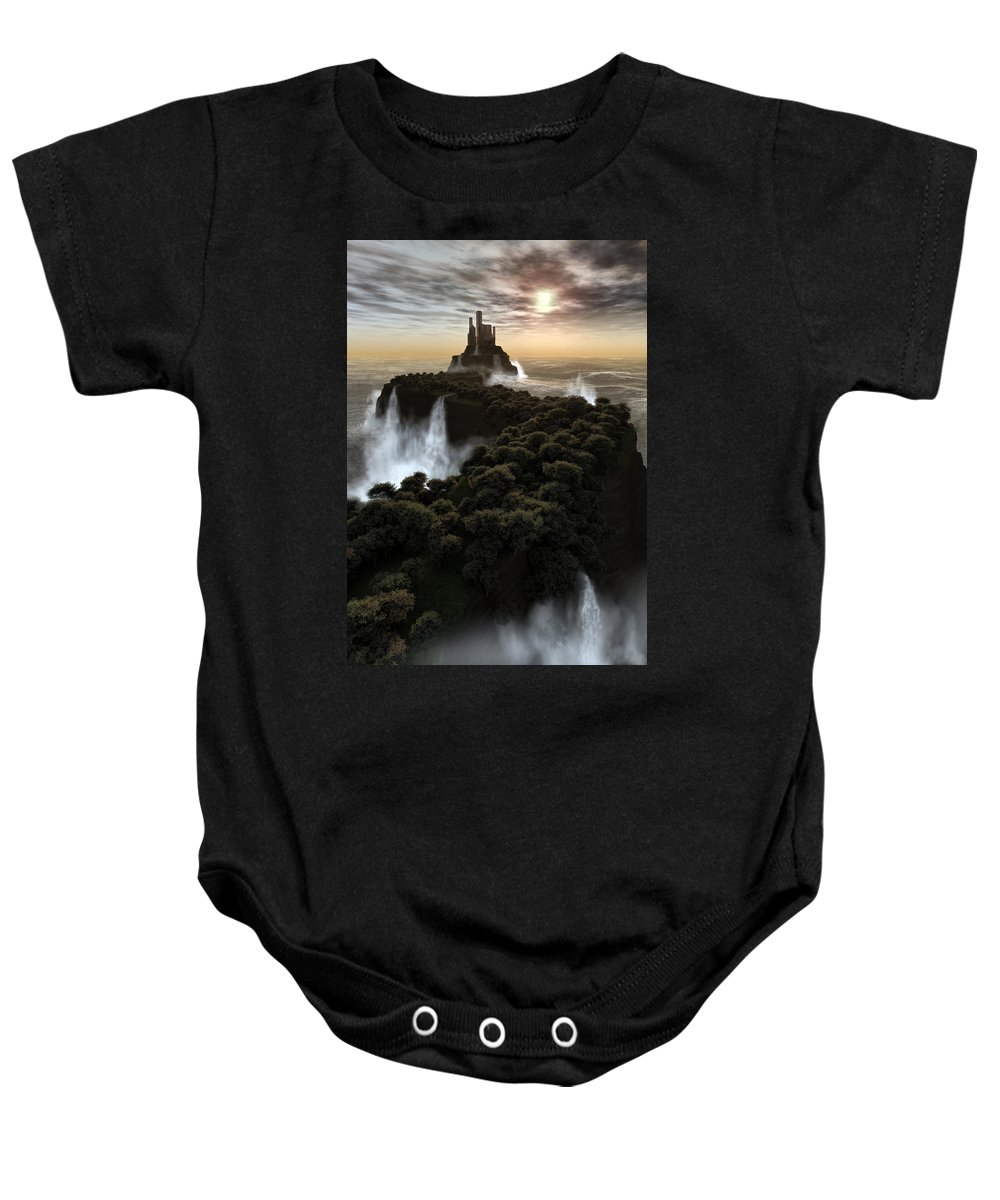Fantasy Baby Onesie featuring the digital art The Last Colony by Richard Rizzo