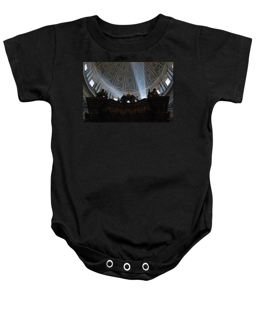 Sunlight Baby Onesie featuring the photograph The Light by Richard Booth