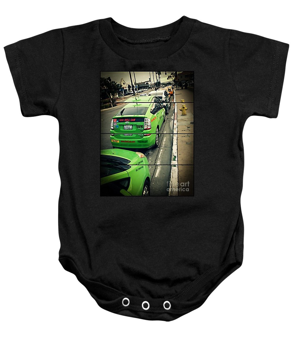 Urban Baby Onesie featuring the photograph The Lineup Business by Fei A