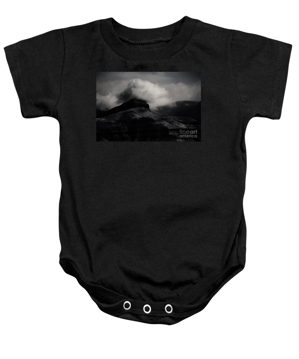 Mountains Baby Onesie featuring the photograph The Mist by Jessica Shelton