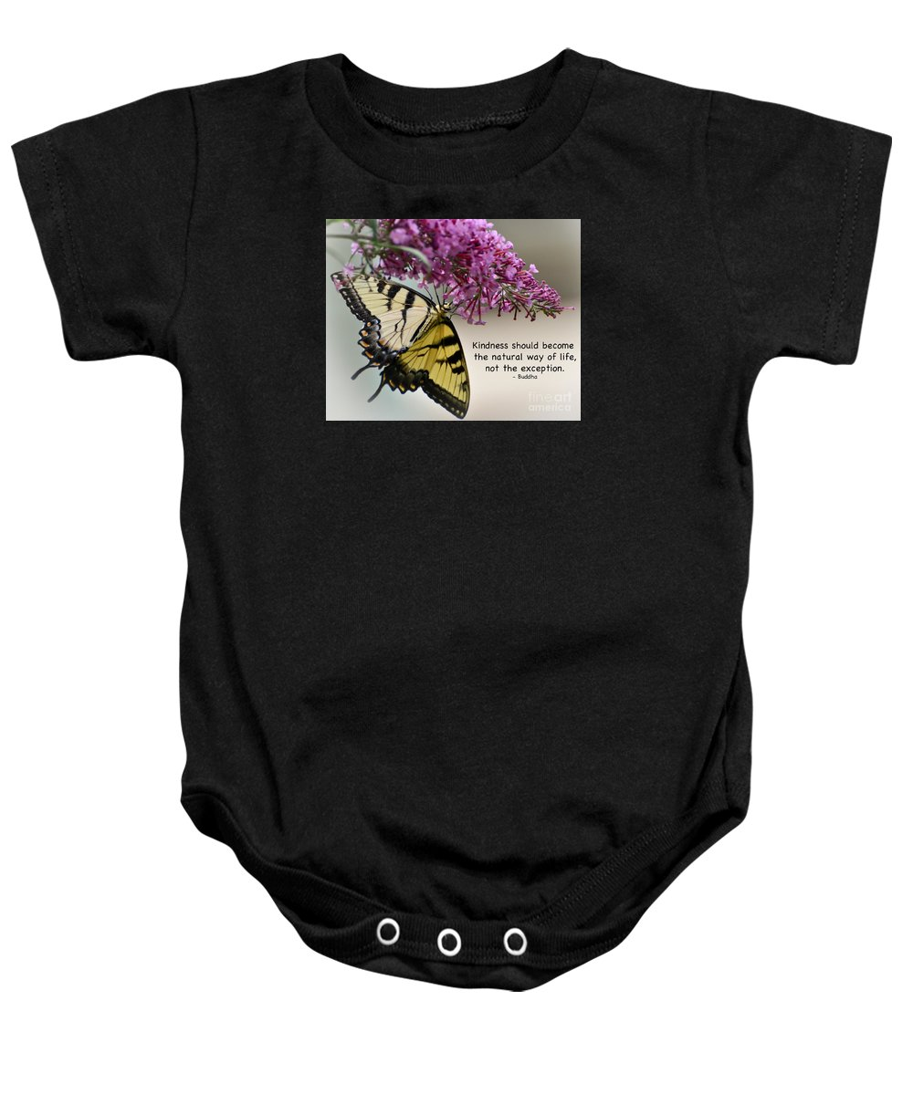 Tiger Swallowtail Butterfly Baby Onesie featuring the photograph The Natural Way by Kerri Farley