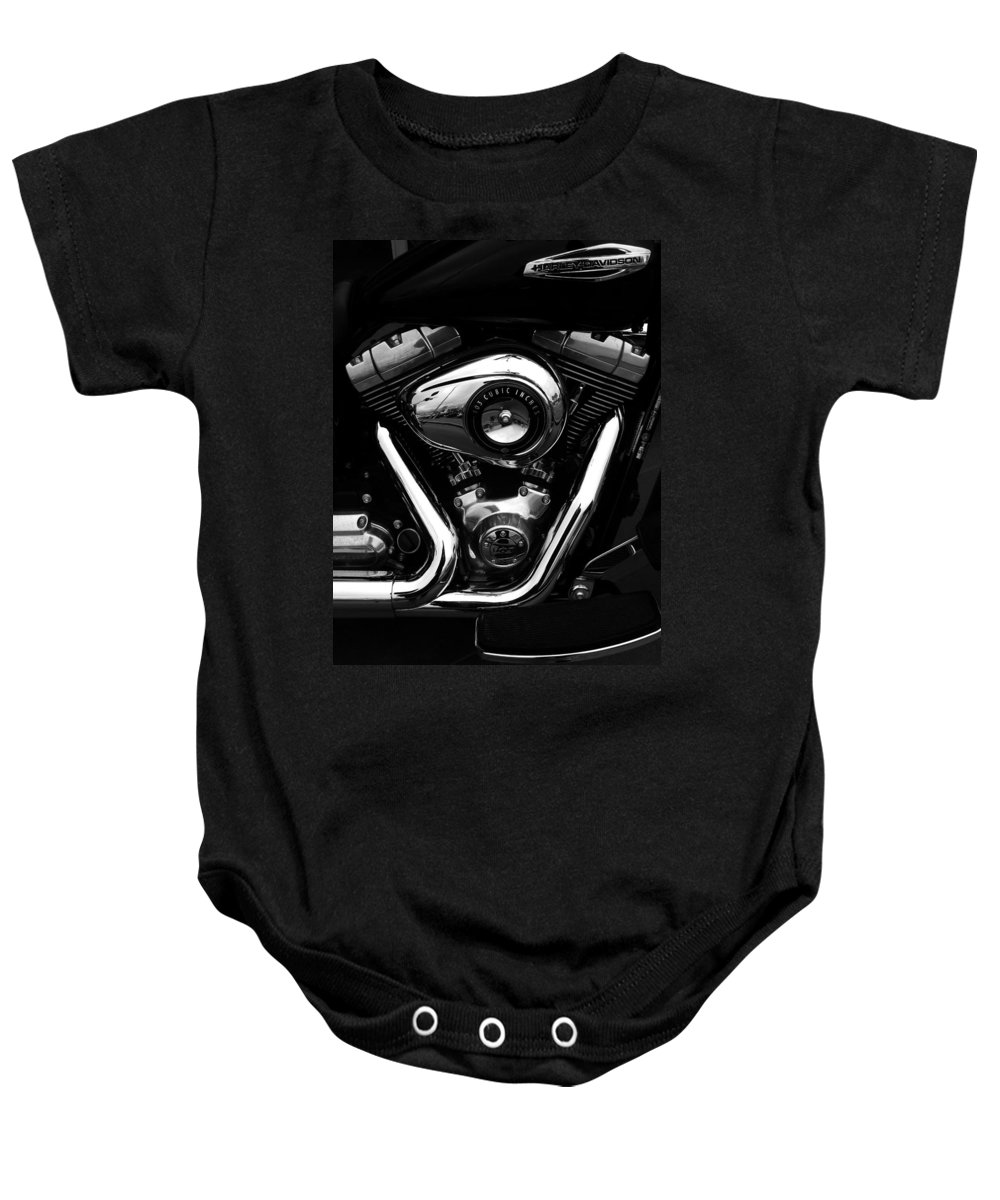 Harley Davidson Baby Onesie featuring the photograph The Noble Steed by Steve Taylor