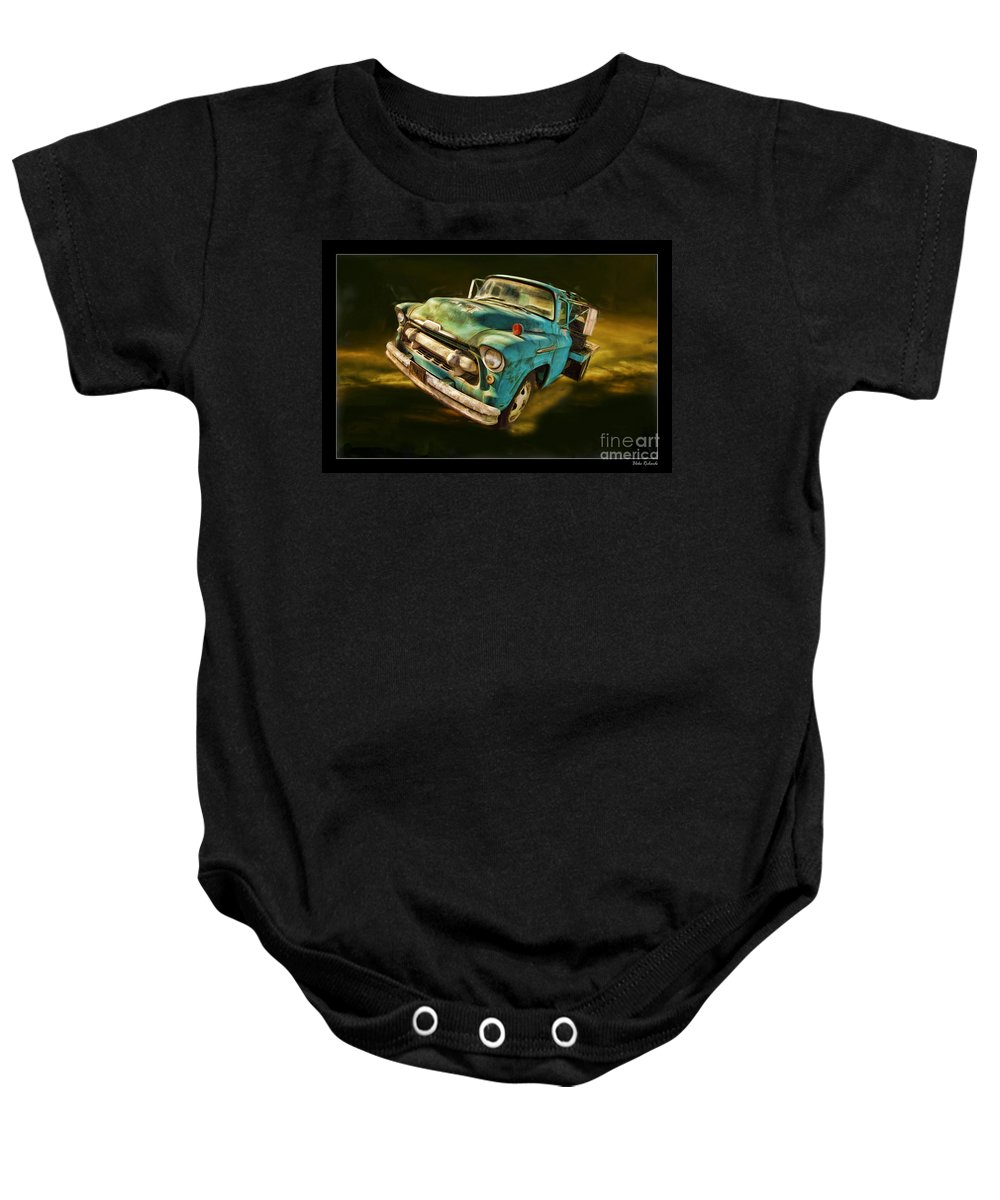 Chevy Baby Onesie featuring the photograph The Old Chevy Max by Blake Richards