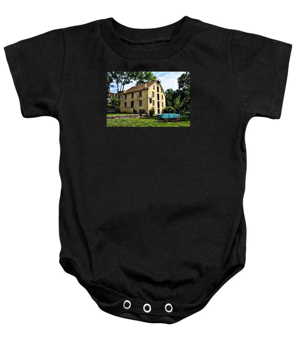 Old Baby Onesie featuring the photograph The Old Grist Mill Paoli Pa. by Bill Cannon