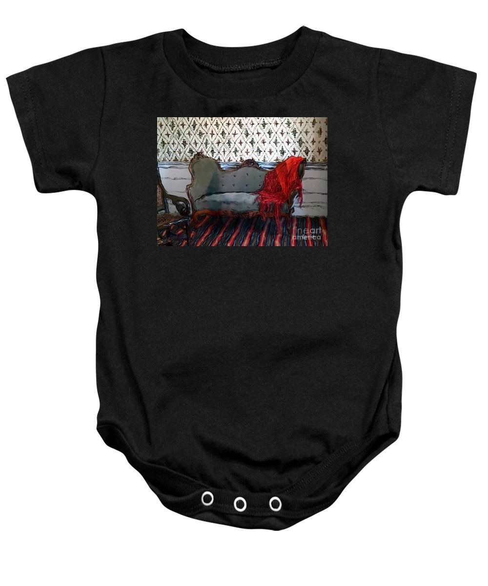 Furniture Baby Onesie featuring the painting The Parlor At Chicago Joe's by RC DeWinter