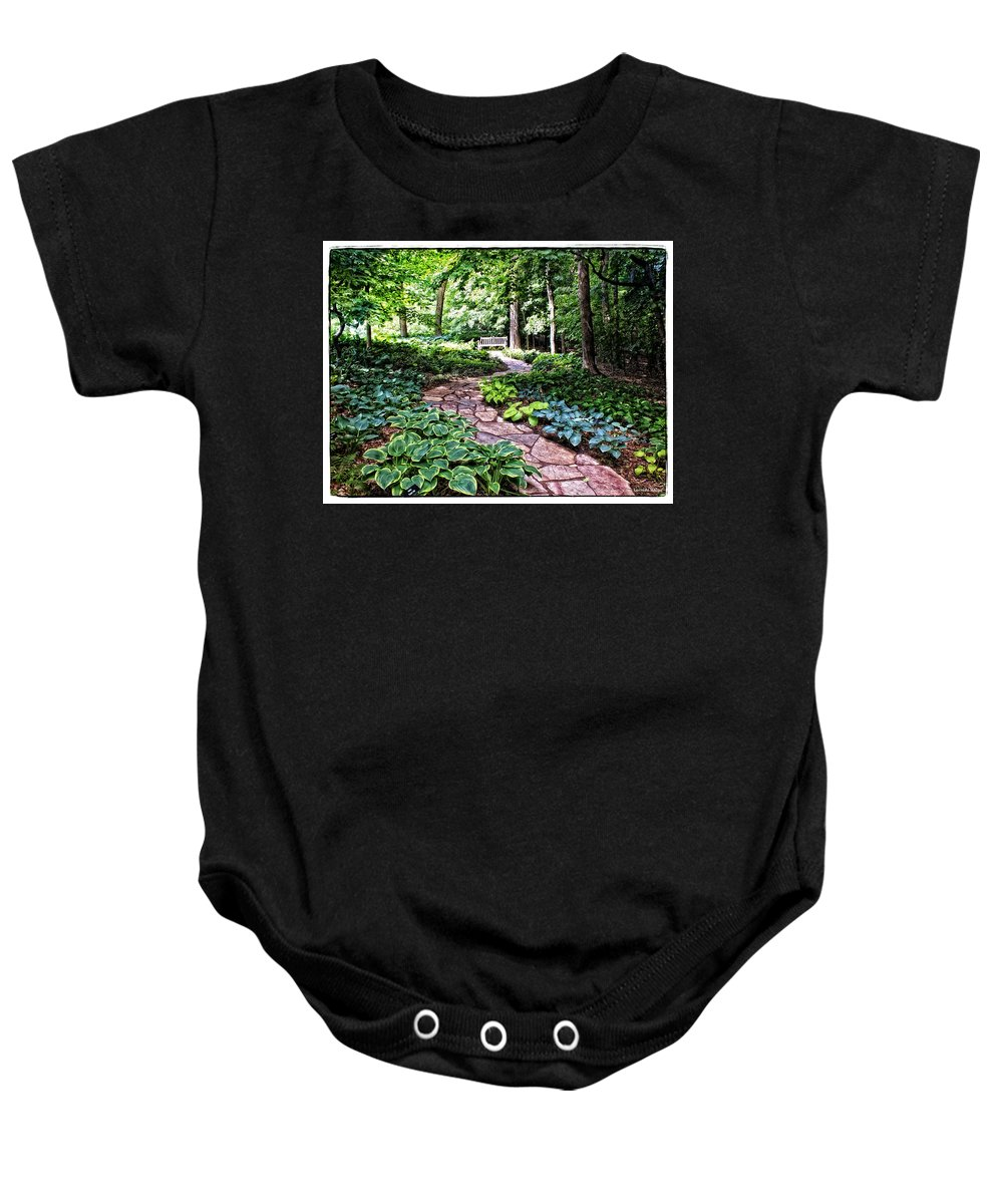 Arboretum Baby Onesie featuring the photograph The Path by Lucinda Walter