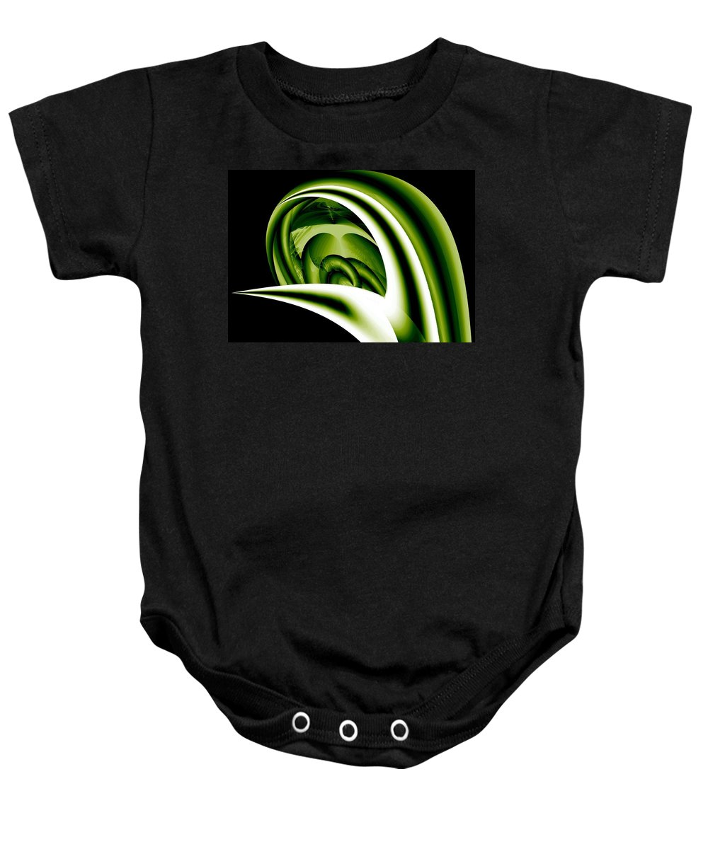 Pod Baby Onesie featuring the digital art The Pod by Maria Urso
