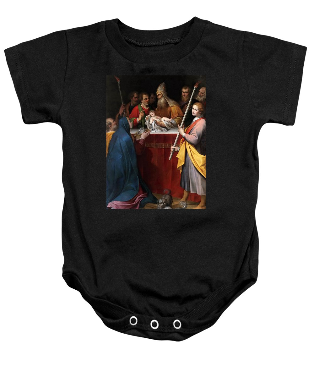 Camillo Procaccini Baby Onesie featuring the painting The Presentation In The Temple by Camillo Procaccini