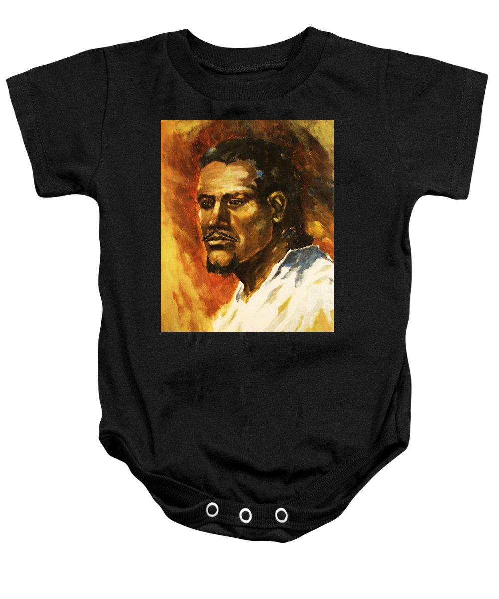 Portraits Baby Onesie featuring the painting The Prophet by Al Brown