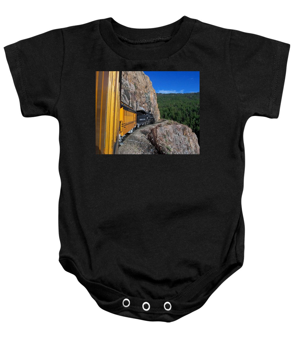 Durango Baby Onesie featuring the photograph The Ride by Ernie Echols
