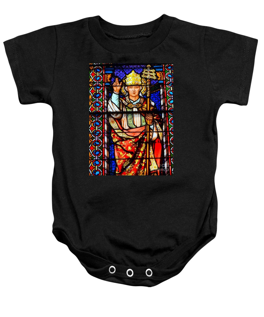 Stained Glass Baby Onesie featuring the photograph The Scepter by Ed Weidman