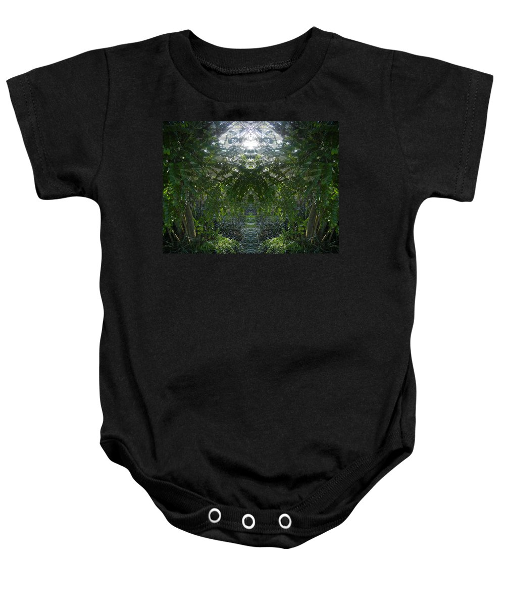 Nature Baby Onesie featuring the photograph The Secret Place by Bobbie Barth