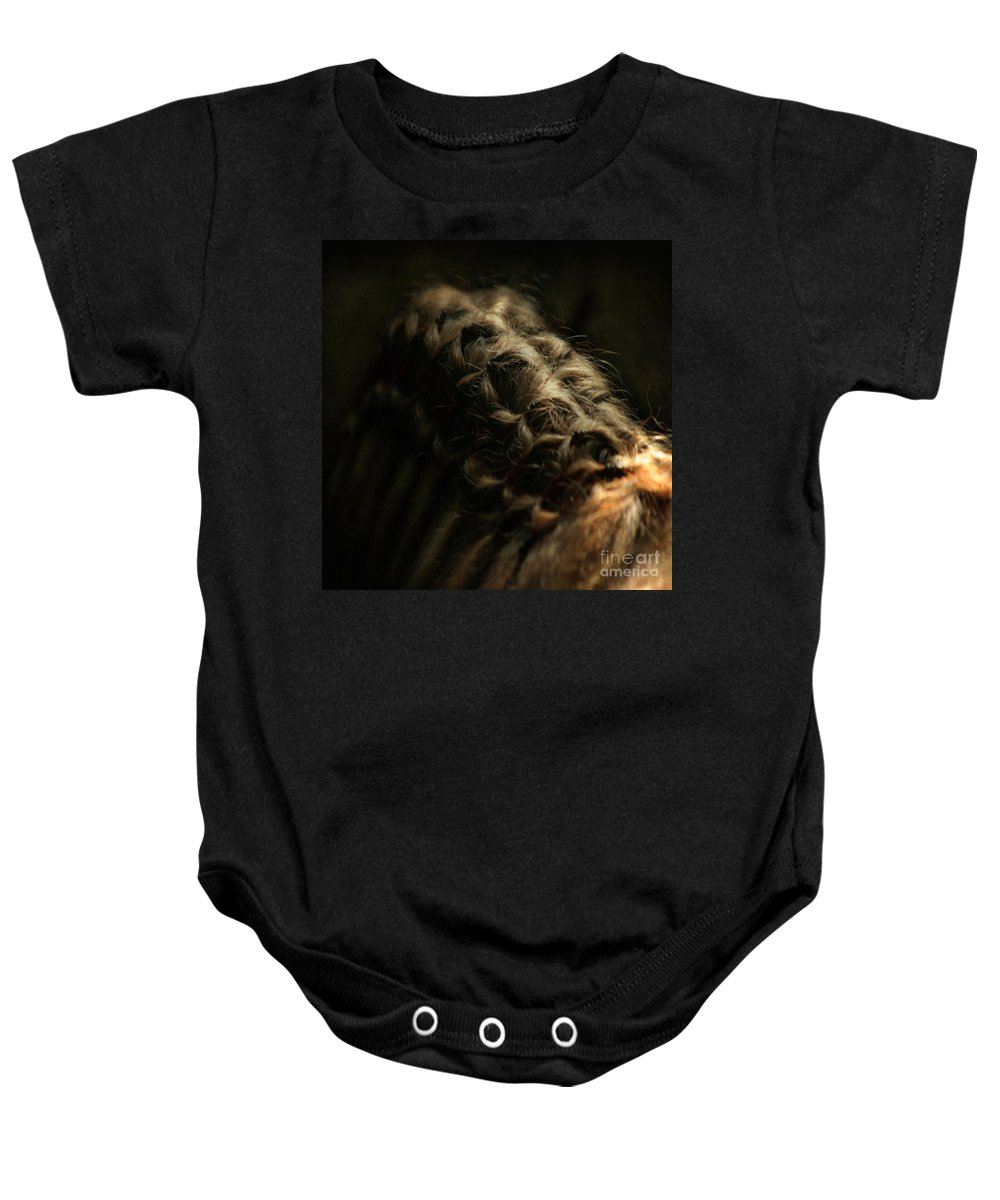 Horse Baby Onesie featuring the photograph The Shape by Angel Ciesniarska