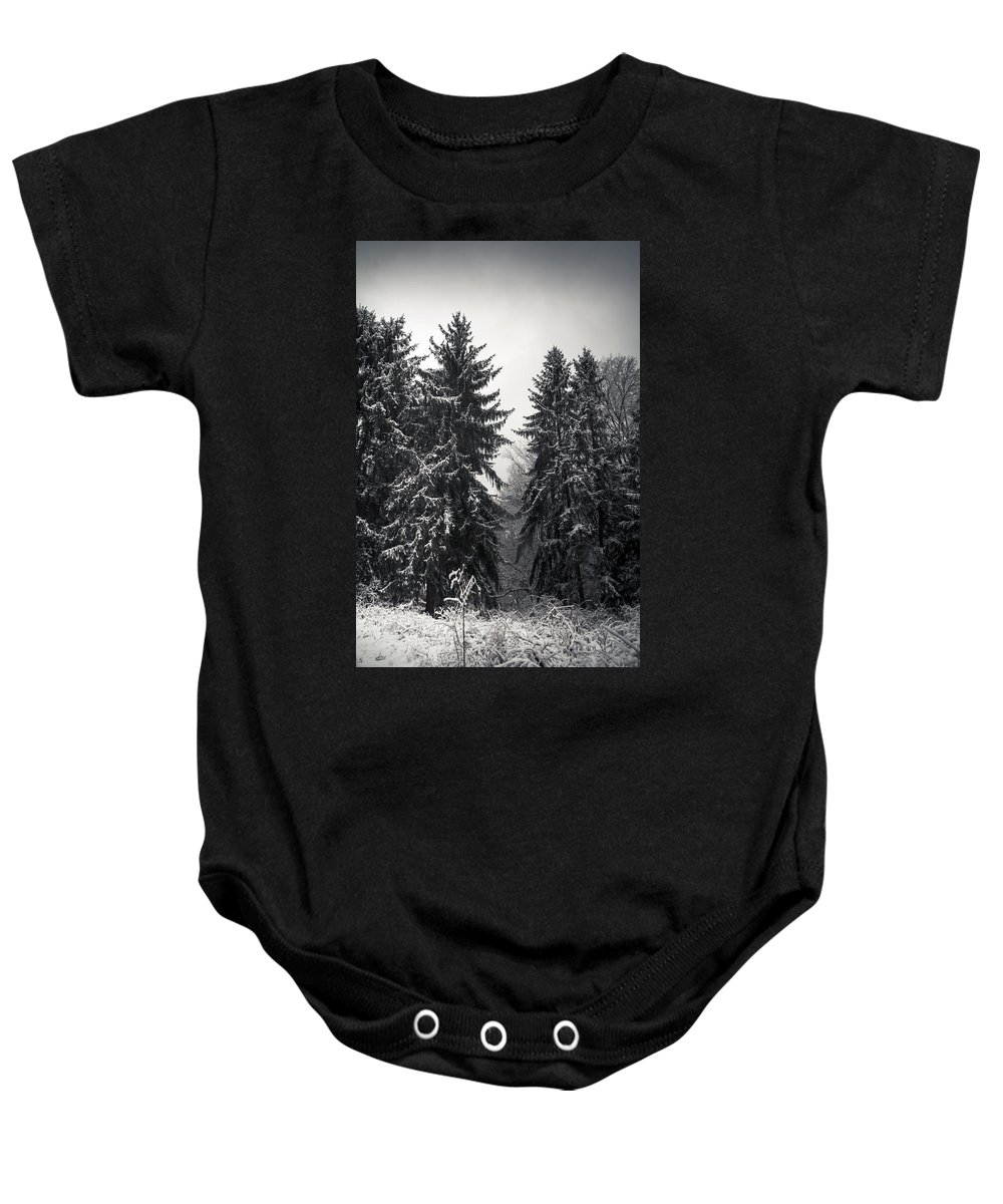 Winter Baby Onesie featuring the photograph The Silent Season by Shane Holsclaw