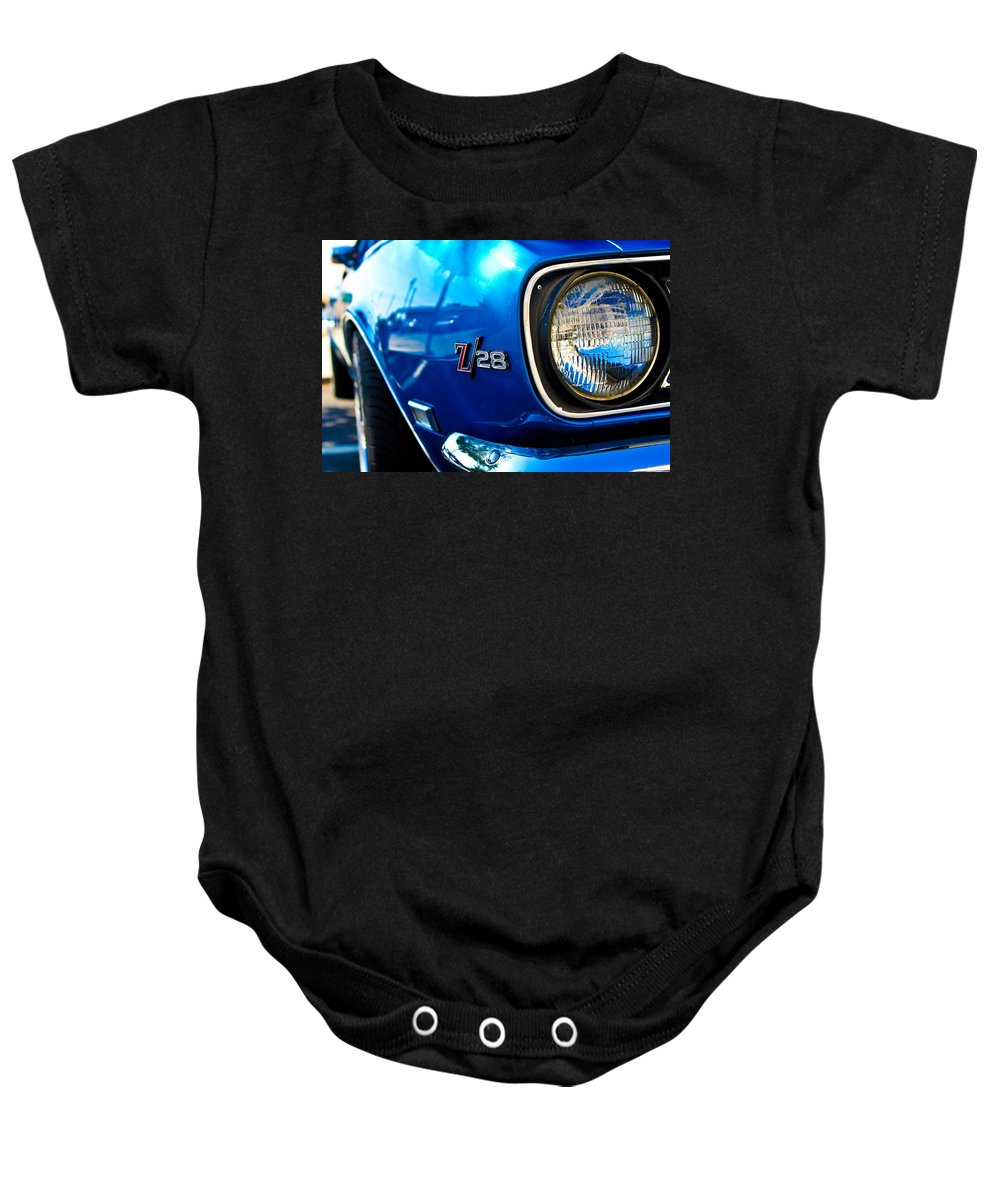 Classic Cars Baby Onesie featuring the photograph The Six Eight by Digital Kulprits