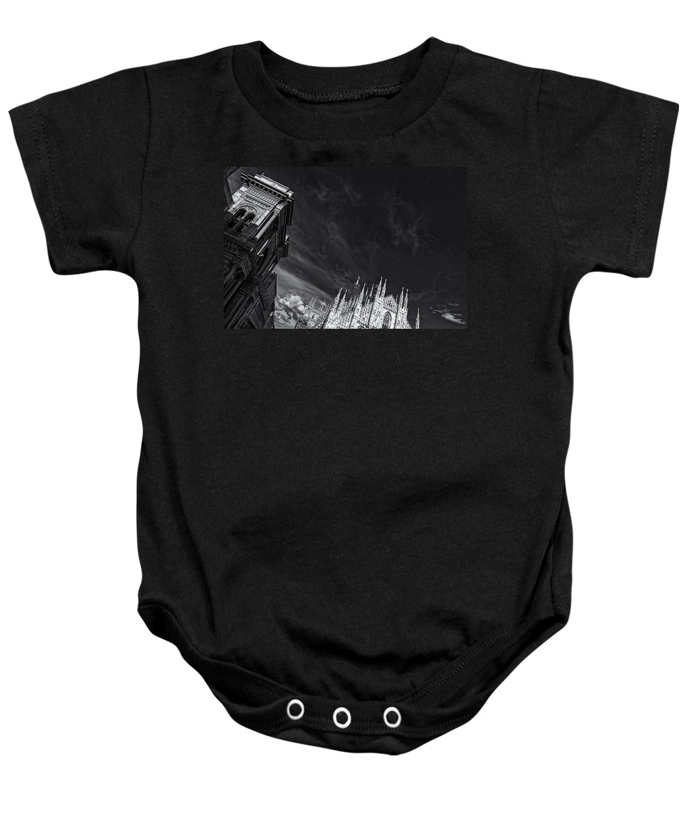 Silverefexpro Baby Onesie featuring the photograph The Sky Over Cathedral by Roberto Pagani
