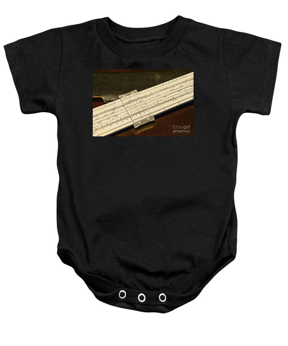 Paul Ward Baby Onesie featuring the photograph The Slide Rule by Paul Ward