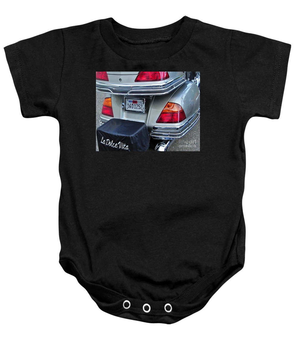 The Sweet Life Baby Onesie featuring the photograph The Sweet Life by Phillip Allen