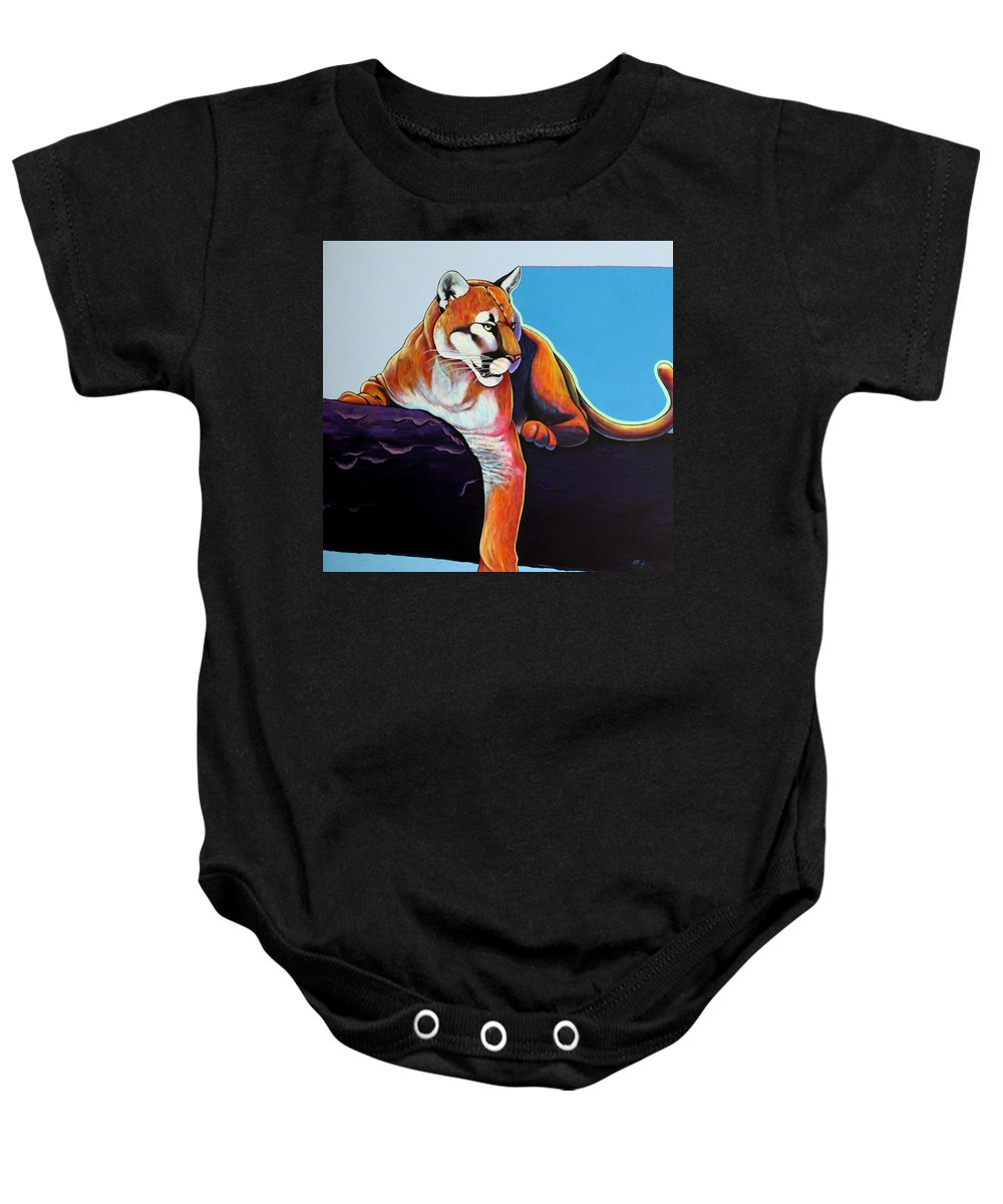 Wildlife Baby Onesie featuring the painting The Toll Collector by Joe Triano