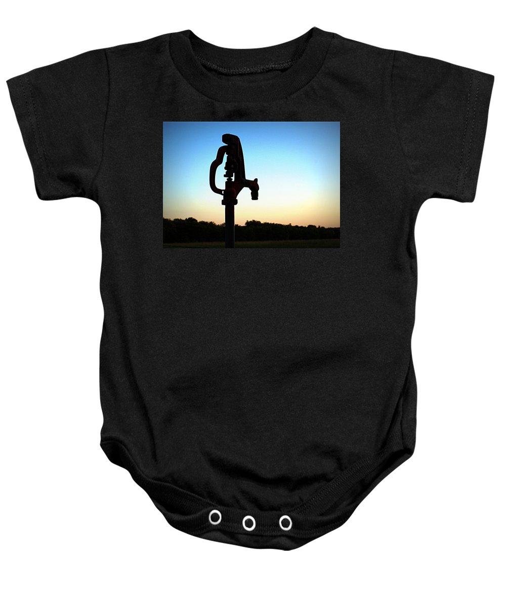 Water Baby Onesie featuring the photograph The Water Hydrant by Cricket Hackmann