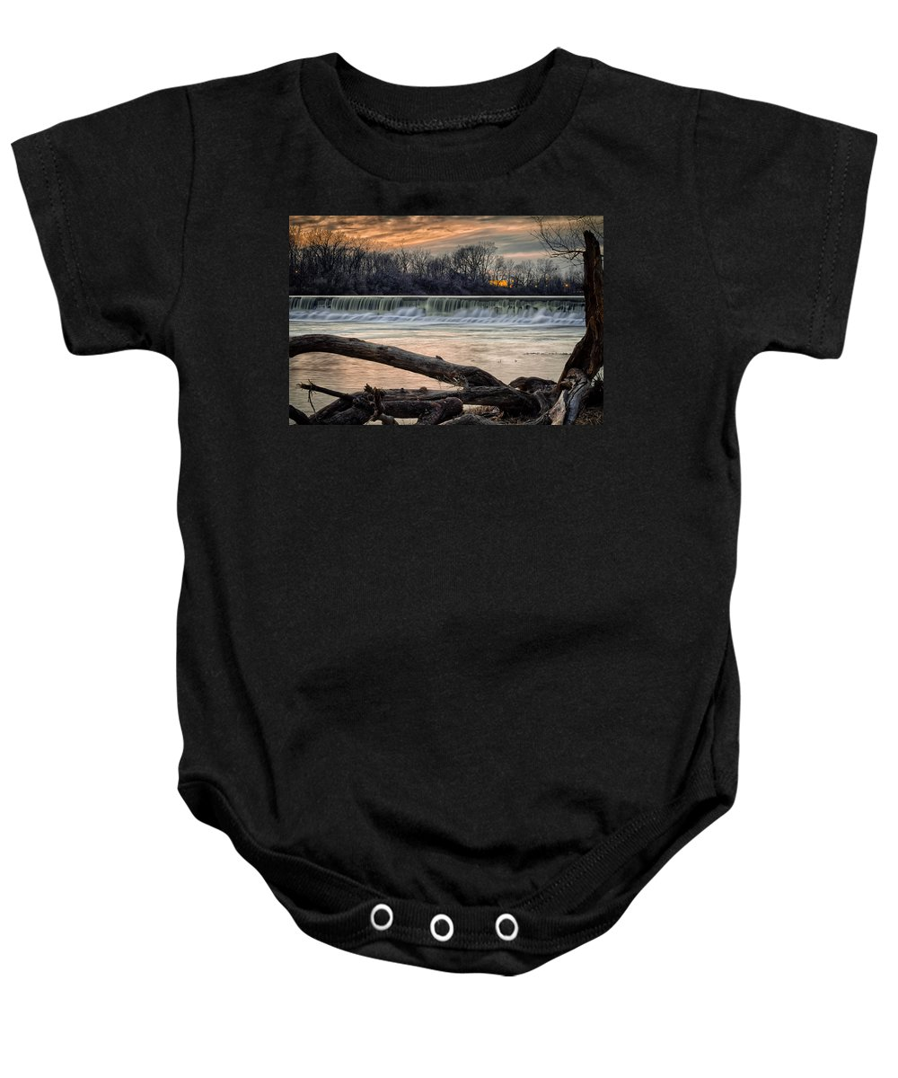 Indiana Baby Onesie featuring the photograph The White River by Ron Pate