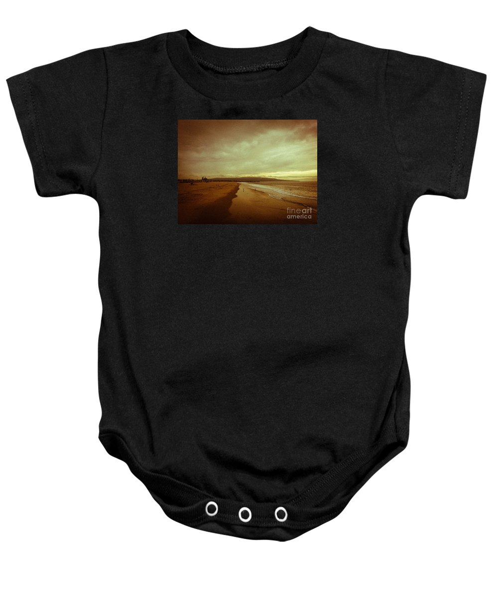 Landscape Baby Onesie featuring the photograph The Winter Pacific by Fei A