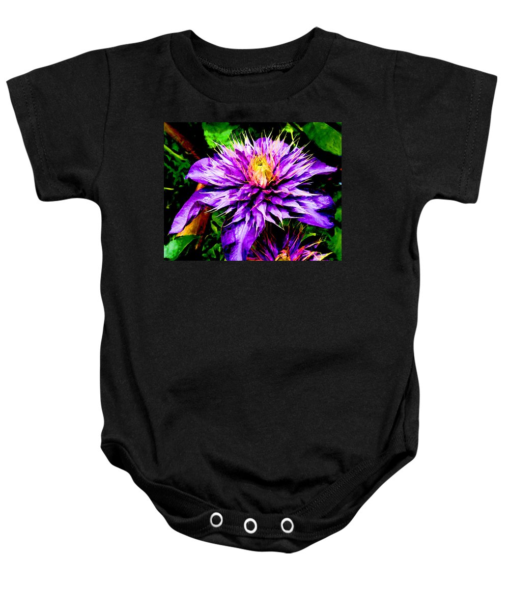 Clematis Baby Onesie featuring the photograph The Witch Queen Of New Orleans by Steve Taylor