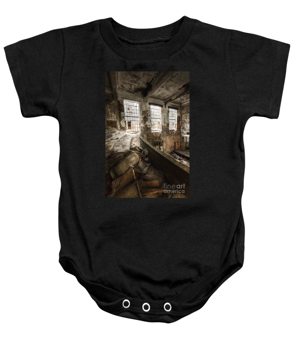 Windows Baby Onesie featuring the photograph Theater Seating by Margie Hurwich