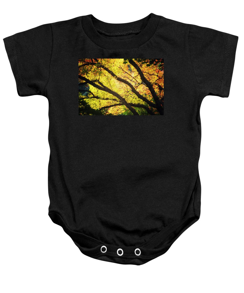 Autumn Baby Onesie featuring the photograph Then Autumn Arrives 03 by Thomas Woolworth