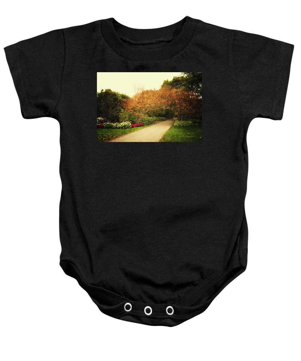 Autumn Baby Onesie featuring the photograph Then Autumn Arrives 05 by Thomas Woolworth