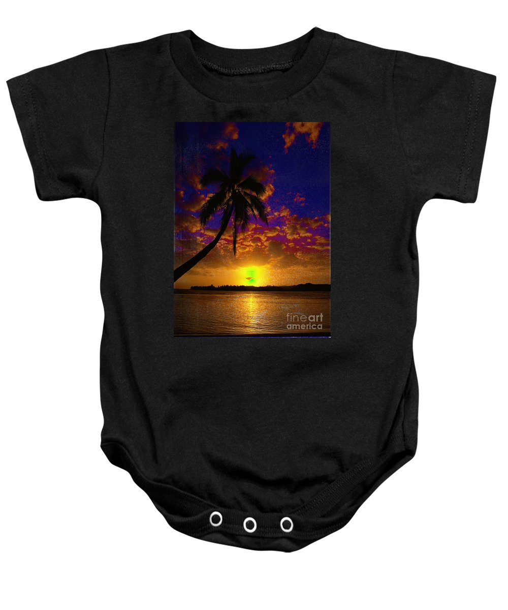 Digital Art Landscape Baby Onesie featuring the digital art Thinking Of You by Yael VanGruber