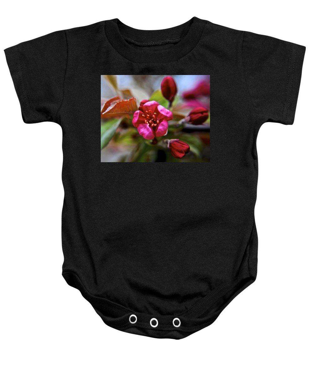 Time Baby Onesie featuring the photograph Through Time And Space by Frozen in Time Fine Art Photography