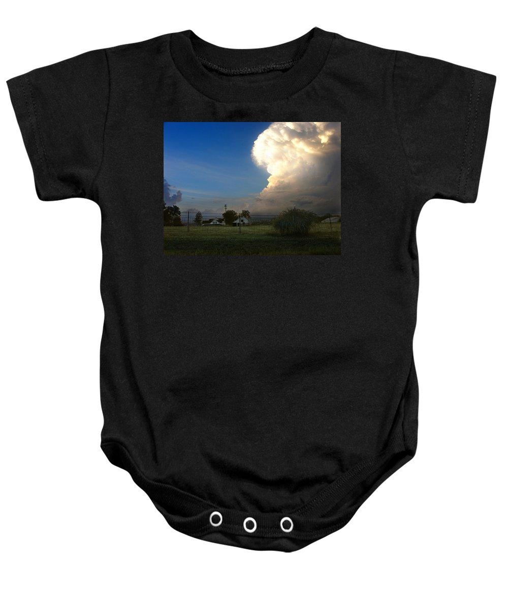 Landscape Baby Onesie featuring the photograph Thunderhead by Steve Karol