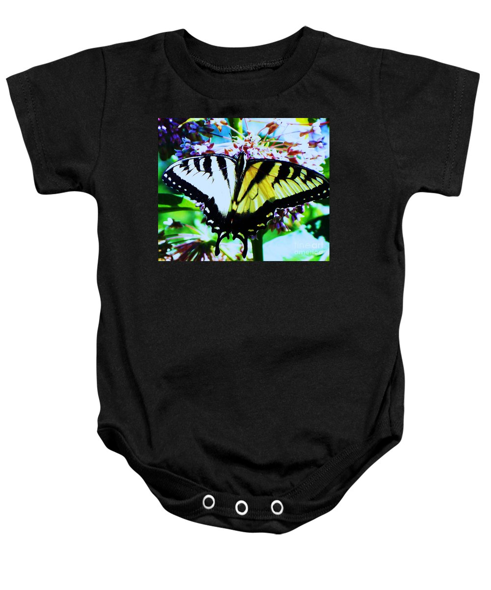 Butterfly Baby Onesie featuring the photograph Tiger Swallowtail Butterfly by Eric Schiabor