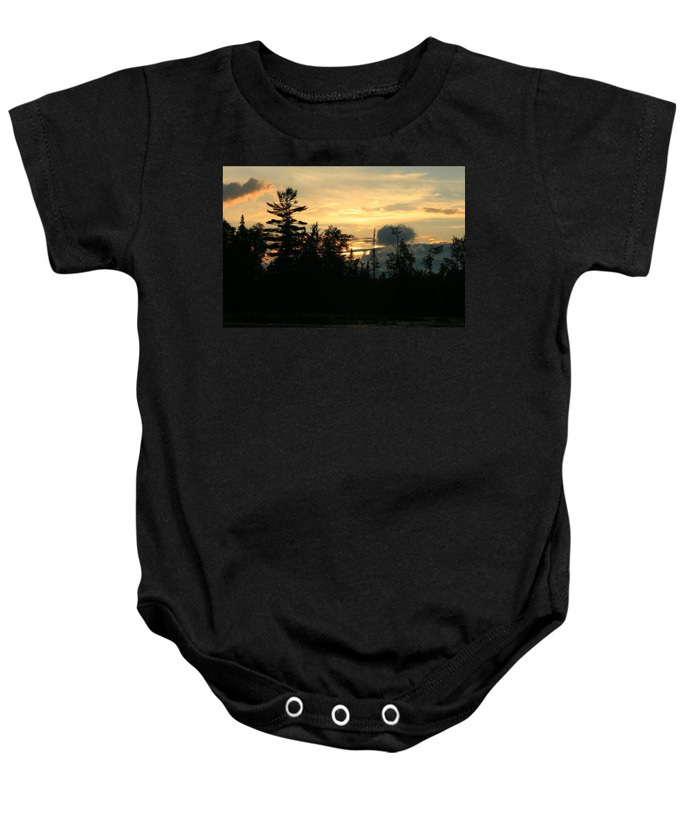 Sunset Art Baby Onesie featuring the photograph Time Stands Still by Neal Eslinger