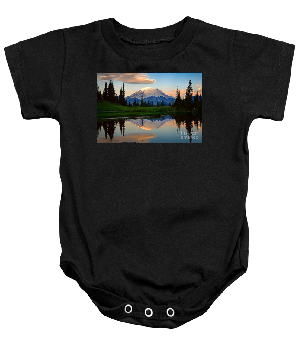 America Baby Onesie featuring the photograph Tipsoo Magic by Inge Johnsson