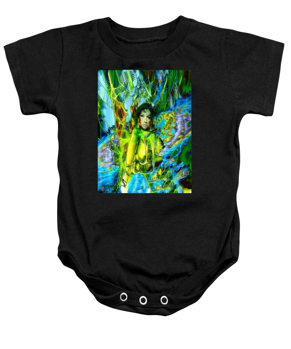 Titania Baby Onesie featuring the digital art Titania-midsummers Night Dream by Seth Weaver
