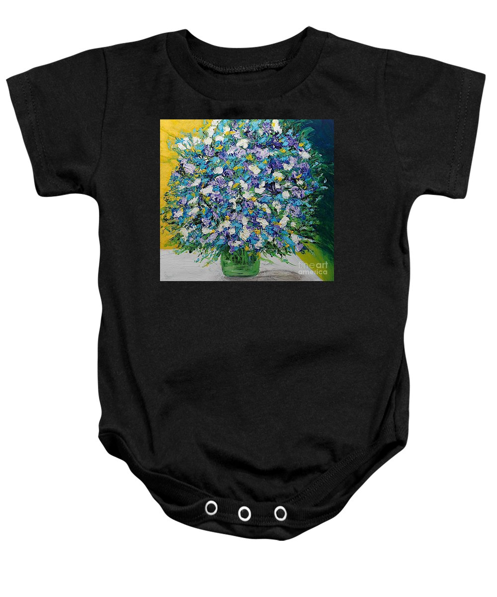 Landscape Baby Onesie featuring the painting To Have And Delight by Allan P Friedlander