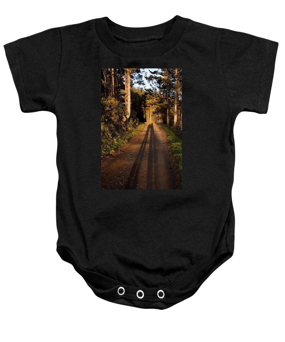 Woods Baby Onesie featuring the photograph Together by John Daly