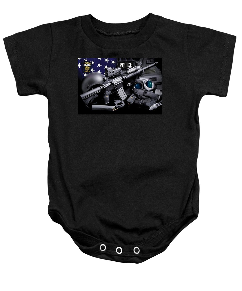 Toledo Police Baby Onesie featuring the photograph Toledo Police by Gary Yost