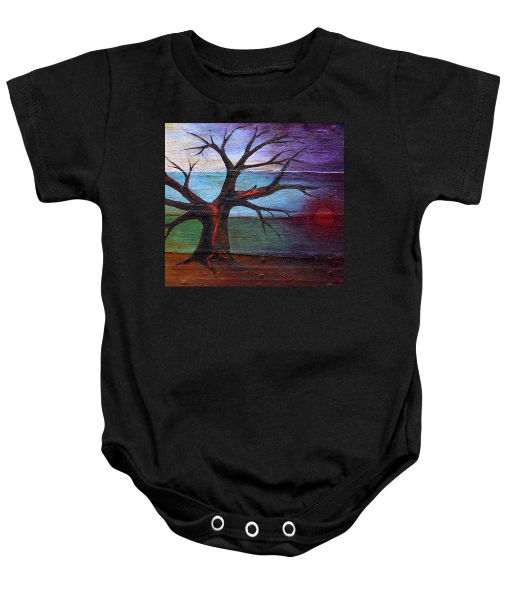 Colour Baby Onesie featuring the painting Tommorow Will By Day by Wojtek Kowalski