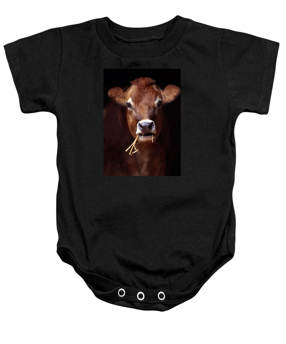 Touppe Baby Onesie featuring the photograph Toupee by Skip Willits